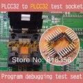 PLCC32 к PLCC32 тестовое гнездо программа отладки тестовое сиденье