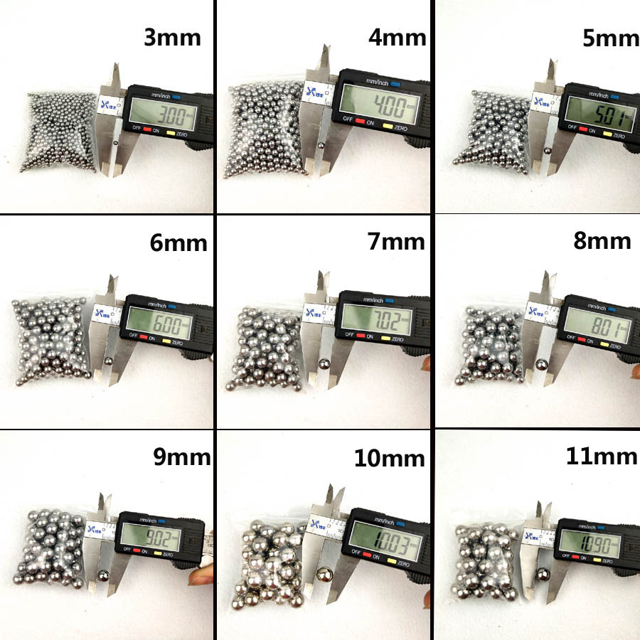 Shooting Steel Balls 5mm 6mm 7mm 8mm 9mm 10mm 11mm Hunting Slingshot Stainless AMMO outdoor Free Shipping wholesale 100pcs/lot dmiotech 4 pcs replacement electric motor carbon brushes for motors 10mm 11mm 13mm 5mm 6mm 7mm 8mm 9mm