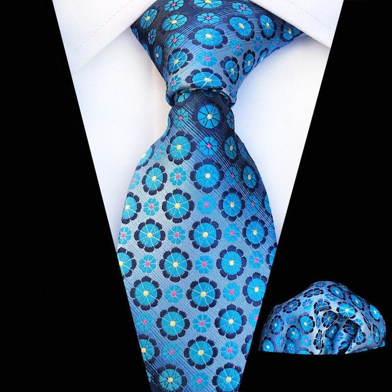 New Plaid Men Ties Set Extra Long Size 146cm*8cm Necktie Blue Paisley Floral Silk Jacquard Woven Neck Tie Suit Wedding Party