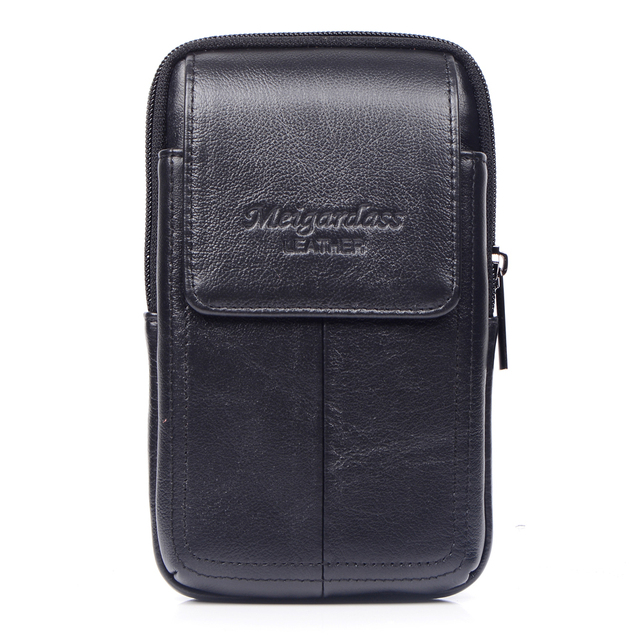 meigardass New style High Quality Men Genuine Leather Waist Bag Male Travel Fanny Pack Belt Loops Hip Bum Wallet bag #285-L