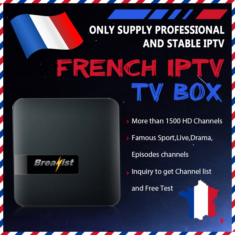 Breakist France iptv smart android tv box iptv french m3u 4k mag  subscription 1 year with adult subscription Italy French Spain