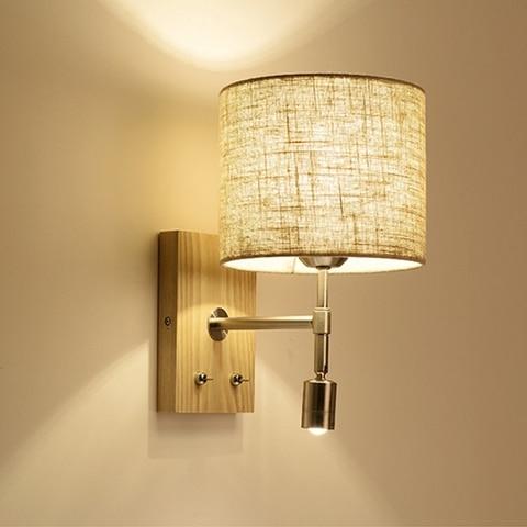 lukloy nordic cama de madeira conduziu a lampada parede leitura conduziu a luz da parede