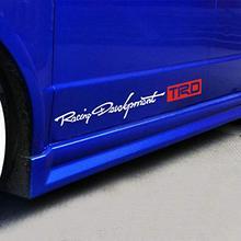 도요타 레이싱 개발을위한 TRD 2PCS 자동차 레이싱 개발 스티커 데칼