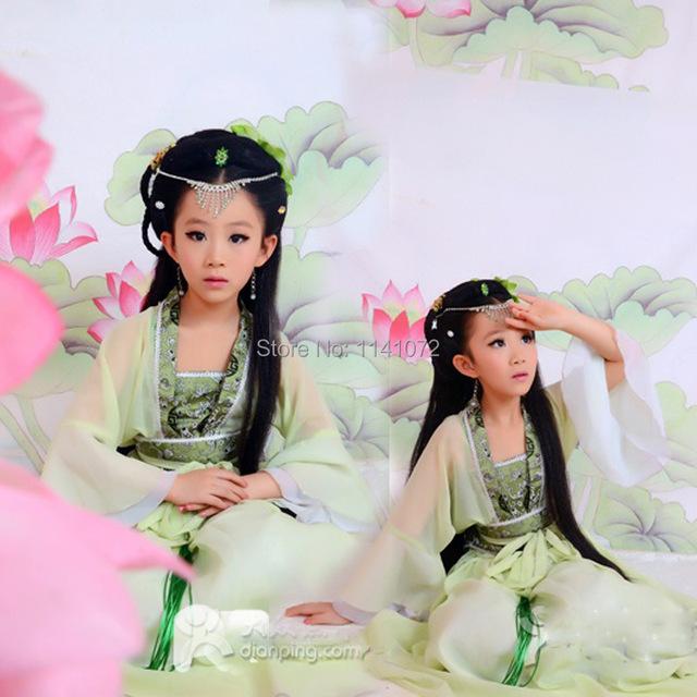 2015 grado superior de baile de disfraces de la ropa antigua china para niños de hadas ropa costum de vestido para la fotografía