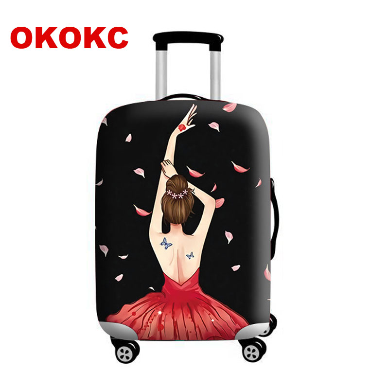 OKOKC Girl Luggage Protective Cover Elastic Suitcase Travel Case Trolley Dust Rain Bags Accessories Supplies Product