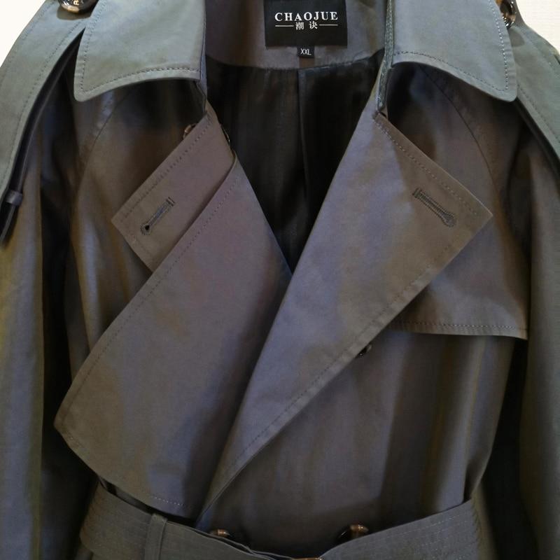 CHAOJUE 2018 printemps/automne femmes dernier changement de couleur Trench manteau Europe mode dame bureau Long manteau Trench femme pardessus - 3