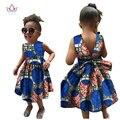 2017 Африканские Женская Одежда детей dashiki Традиционного хлопка Платья Соответствия Африки Распечатать Платья Детей Летом BRW WYT22