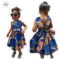 2017 African Women Clothing kids dashiki Traditional cotton Dresses Matching  Africa Print Dresses Children Summer BRW WYT22