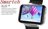 Smartch DM98 relógio Inteligente MTK6572 1.2 Ghz 2.2 polegada IPS HD 900 mAh bateria 512 MB Ram 4 GB Rom Android 3G WCDMA GPS WIFI smartwatch