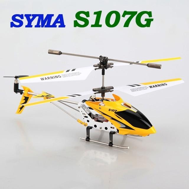 2016 Горячий Новый Syma S107G S107 3CH RC Вертолет С Управления По Радио гироскопа Металла Сплава Фюзеляжа R/C Вертолет Мини-Крытый Co-Axial