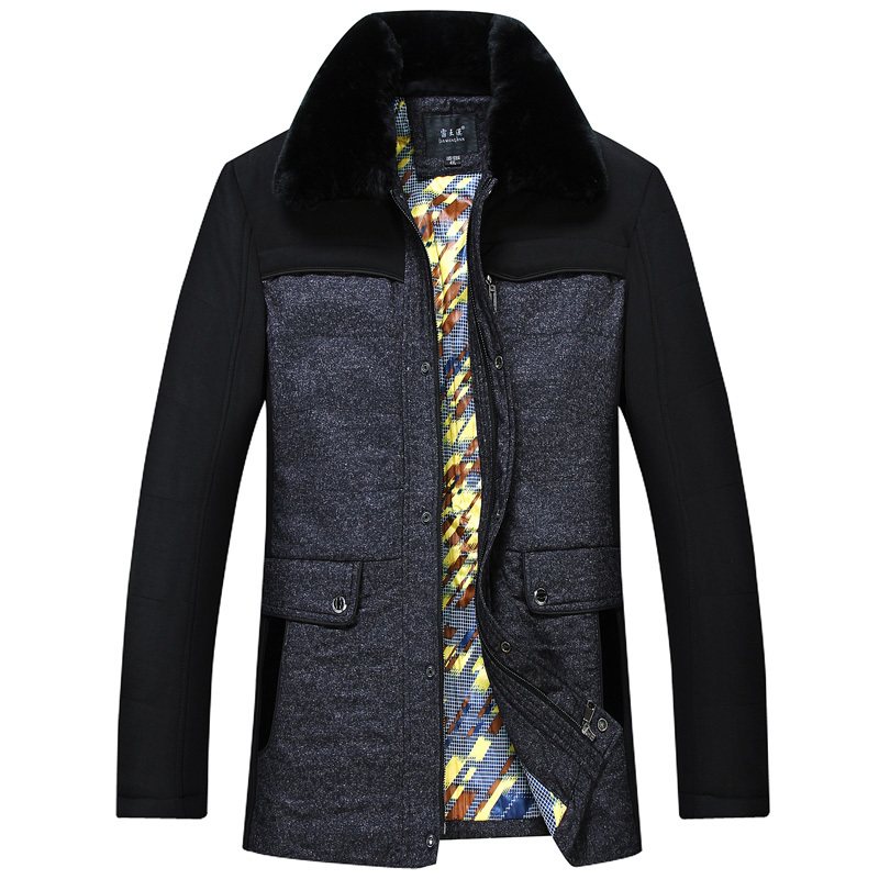 Free shipping men collar thick padded jacket Korean version of casual men s high quality winter