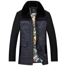 Бесплатная доставка мужчины воротник толстый ватник Корейской версии случайных мужских высокого качества зимняя куртка пальто большой размер 6XL7XL