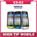 C5-03 Original Nokia C5-03  5MP 3G WIFI GPS Bluetooth Unlock cellphoneOne Year Warranty Refurbished