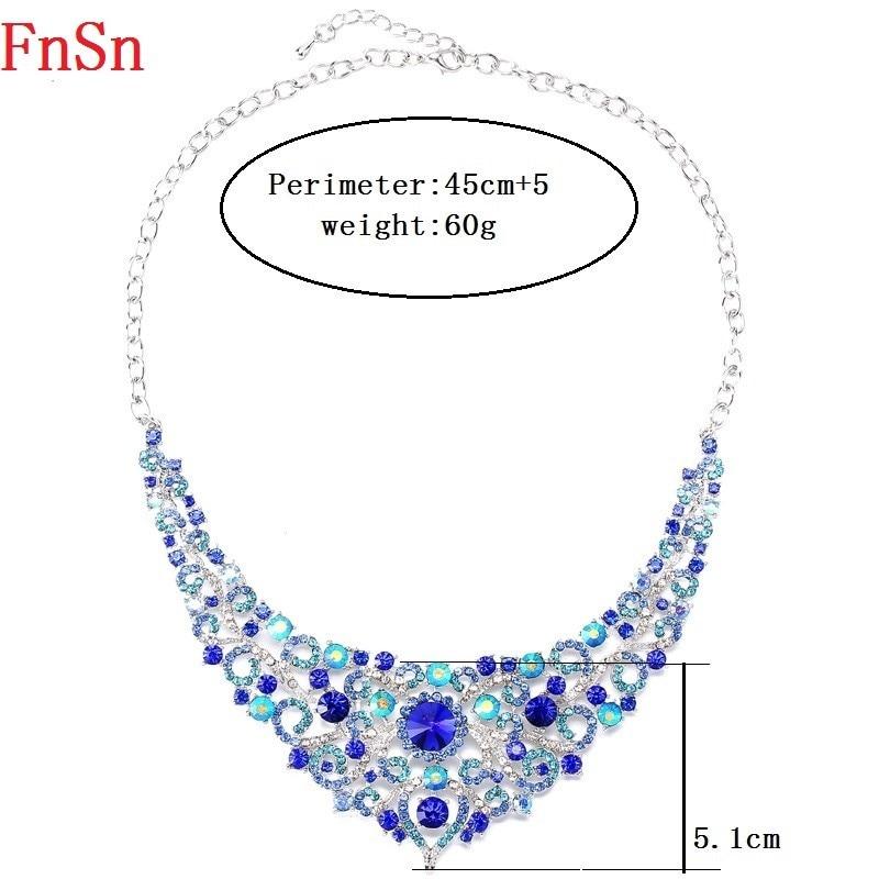 FnSn Νέα Κοσμήματα Σετ Κρίσταλ Κολιέ - Κοσμήματα μόδας - Φωτογραφία 4