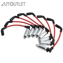 Autooutlet 8 шт. высокая производительность свечи зажигания провода зажигания для CHEVY GMC Свеча зажигания набор проводов для 1999-2006 Chevy GMC