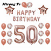 1set 30 50 60 Years Old Happy Birthday Balloons Adults Alphabet Letters Paper Banner 40inch Rose