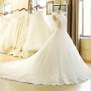 Image 3 - SL 1T בציר תפור לפי מידה אונליין ארוך תחרה אפליקציות סין חתונה שמלה בתוספת גודל בוהמי Abito דה sposa טול כלה שמלה