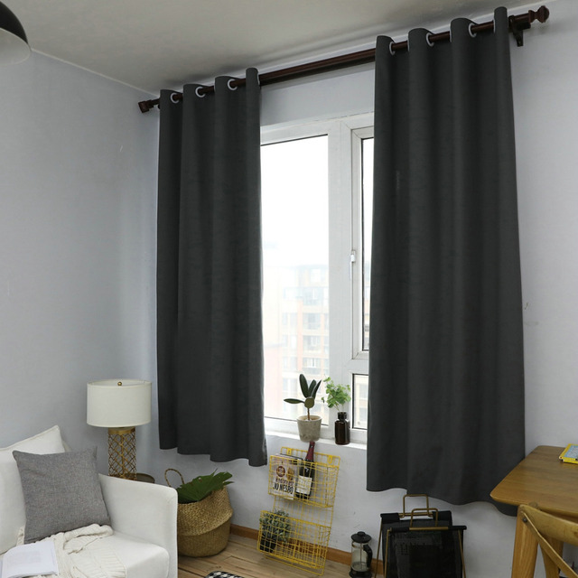 Nordic Style Rope Grey Curtains For Bedroom Living Room Home Kitchen Dorm Decor Sheer Voile Cotton Linen Window D