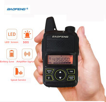 Mini walkie talkie ultrafino usb, mini interfone ultrafino BF-T1 baofeng para estação de rádio uhf 400-470mhz rádio cb(China)