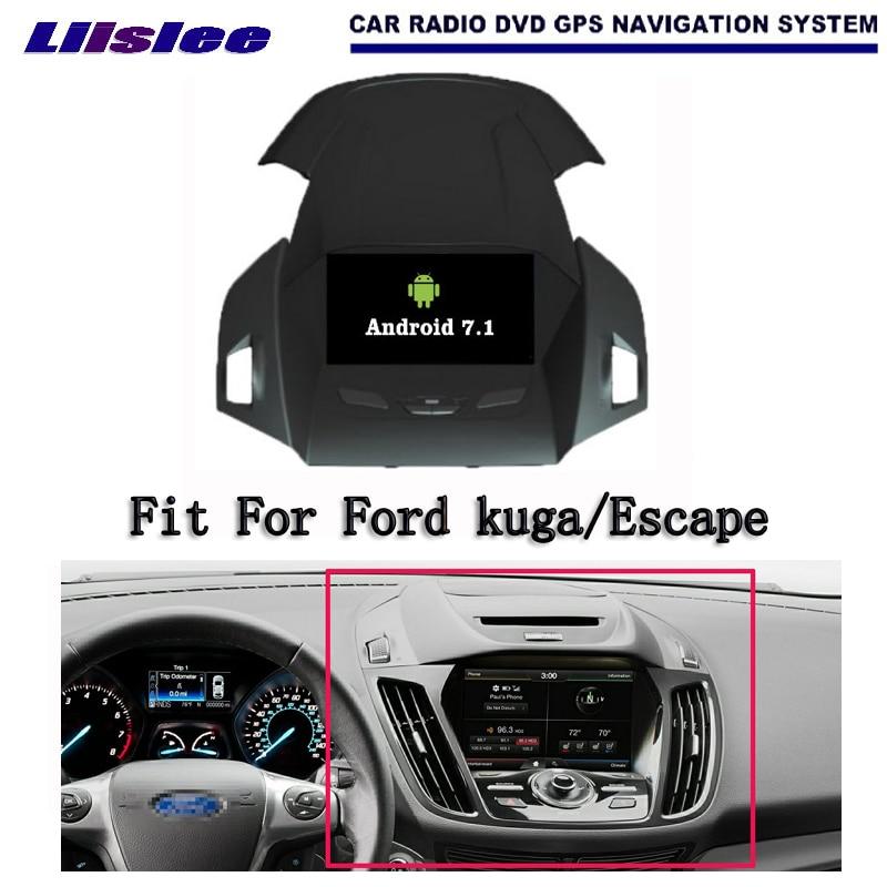 Liislee Android 7.1 2G RAM For Ford kuga/Escape Car Radio Audio Video Multimedia DVD Player WIFI DVR GPS Navi Navigation цена