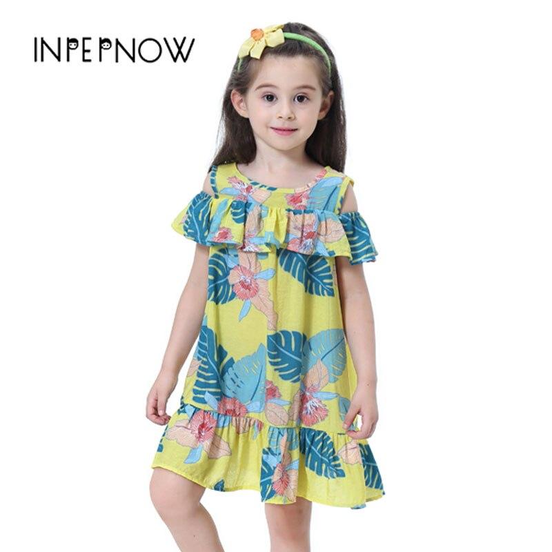 c602514e4 INPEPNOW 1-9y Niñas Ropa verano niñas vestidos 2019 niños vestidos para  niñas elegante princesa fiesta de algodón LYQ-CZX48