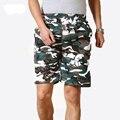 2017 Verão Camuflagem Calções Homens Marca Cintura Elástica Calças Curtas Bermudas Masculina de marca Curto Homme