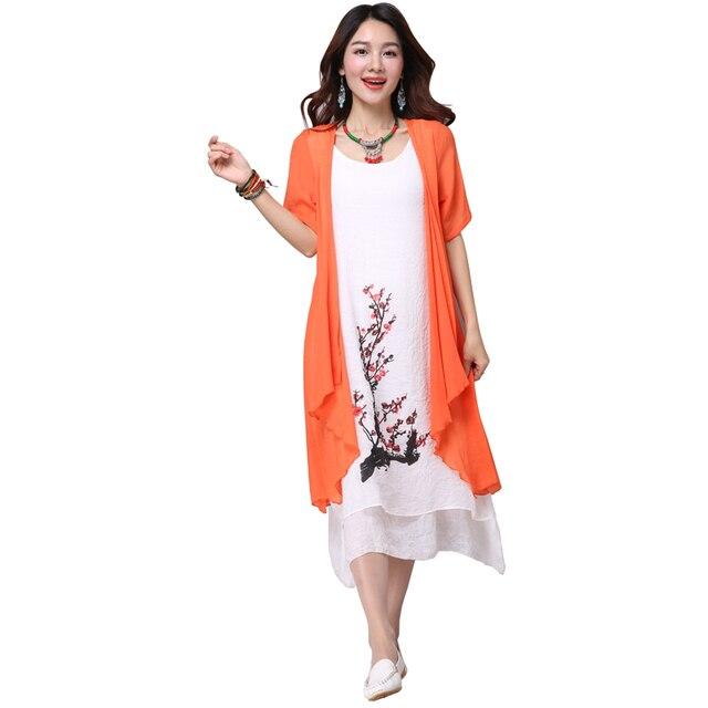 2017 New summer dress women clothing Small fresh women dress tow piece Dress casual plus size loose female Vestidos Elbise Dress