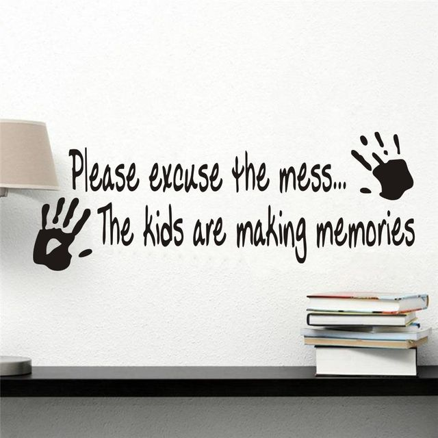 Living Room Sayings aliexpress : buy please excuse the mess wall sticker vinyl