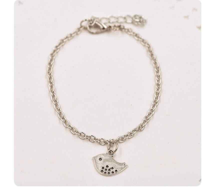 La276 2018 Venta caliente simple de aleación de oro y plata pequeña pulsera de golondrina de pájaro joyería femenina 1 piezas