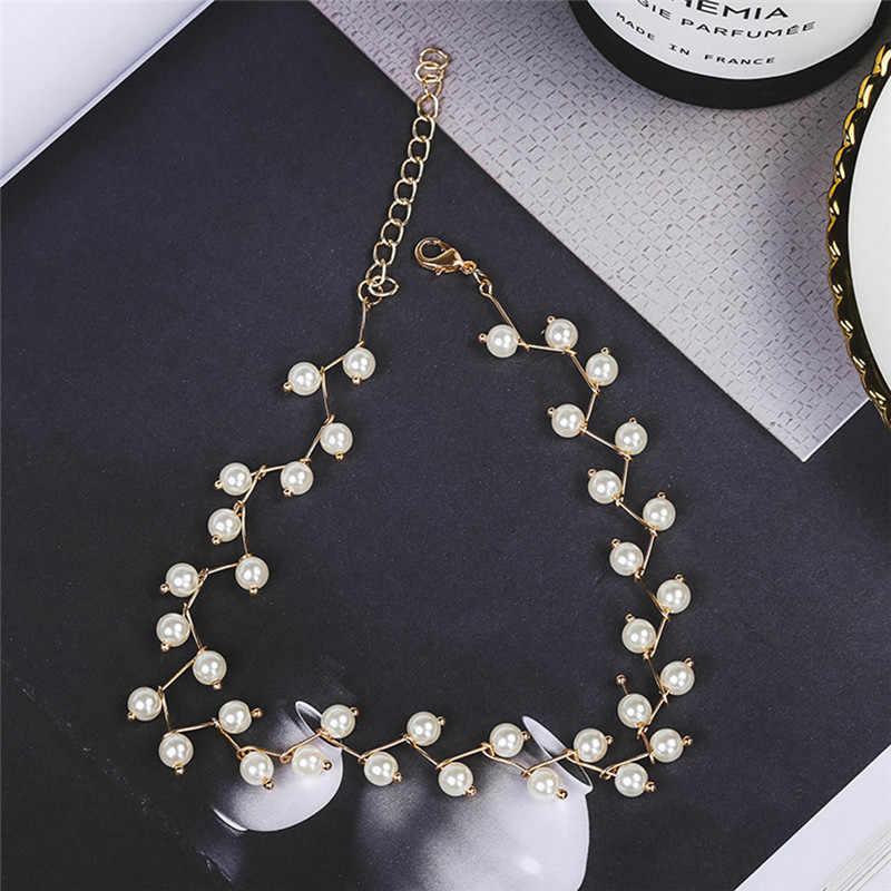 ファッションボヘミアチョーカーネックレスチャーム模擬真珠のネックレスビーズステートメントネックレスウェディングジュエリービジュー襟