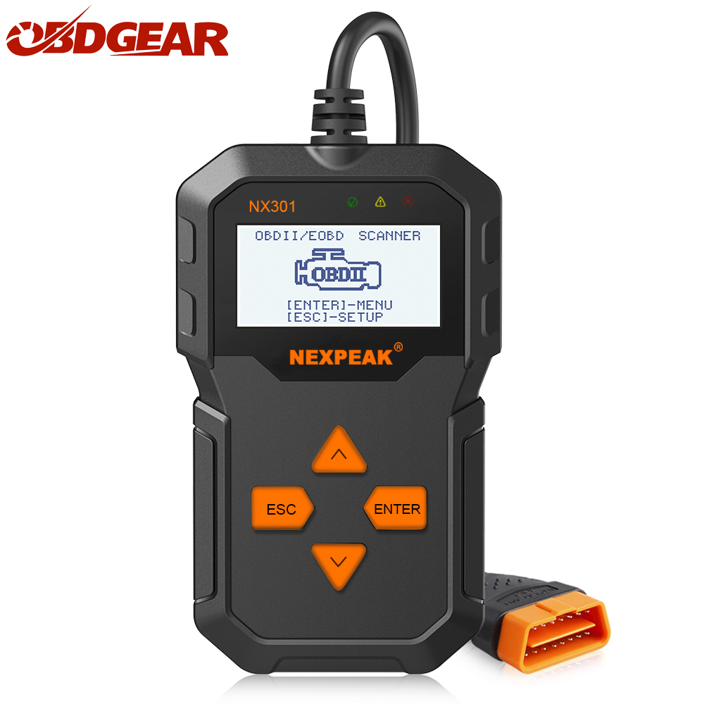 все цены на NX301 OBD2 Automotive Scanner OBD Car Diagnostic Tool in Russian Code Reader ODB 2 Scanner OBDII ODB better than AD310 ELM327