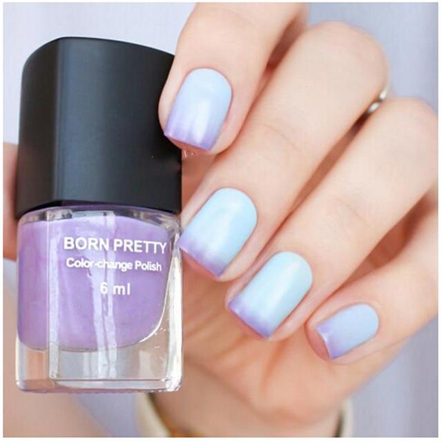 1 шт. синий фиолетовый изменение температуры цвет лака для ногтей тепловой изменение многоцветный лак для ногтей No.# 103