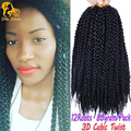 12'' 80g 3D Cubic Twist Crochet Braids Hair Extensions Naptural TM Split Kanekalon Braiding Hair Senegalese Crotchet Twist
