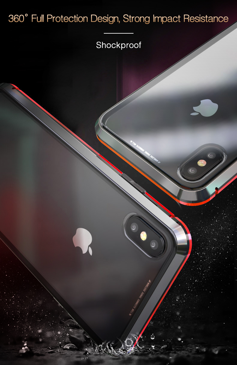 LUPHIE 360 Degree Full Magnetic Case For iPhone X XS Max XR 8 7 Plus (6)