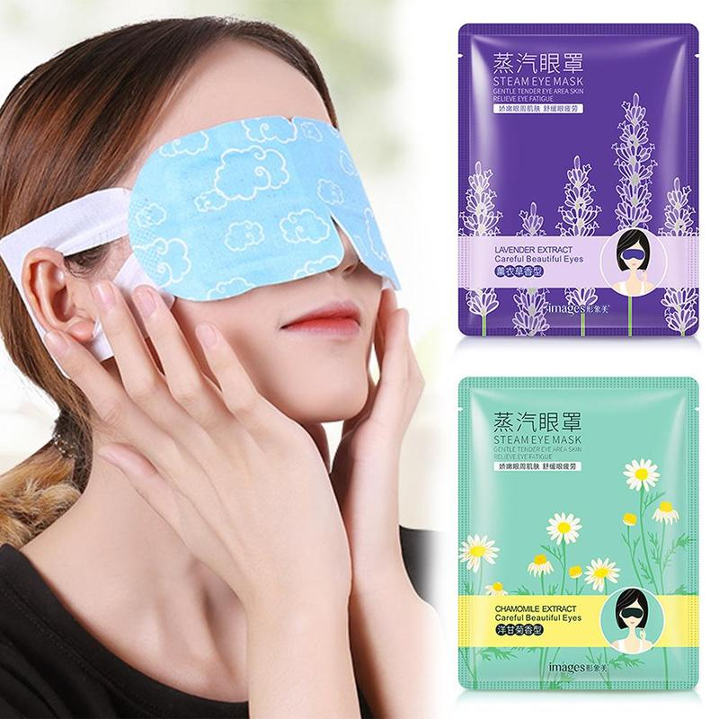 Fine-Line Eye-Mask Steam Wrinkles Puffy Dark-Circle Eyes Anti-Aging Lavender/chamomile