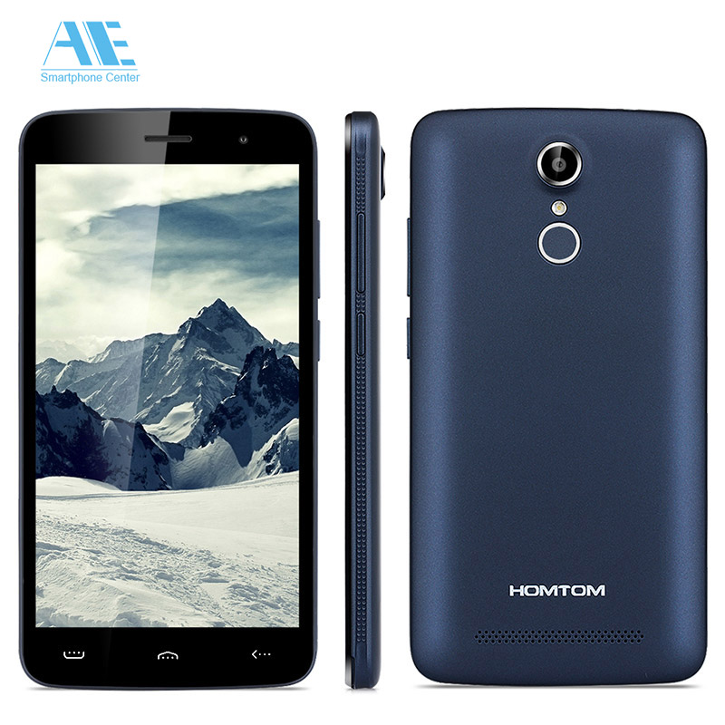 "Homtom HT17 MTK6737 Quad Core Cellphone Android 6.0 1G RAM 8G ROM Mobile Phone 5.5"" HD 4G LTE FingerID Smartphone"
