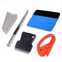 FOSHIO виниловый набор инструментов скребок из углеродного волокна фольги виниловая пленка автомобиля обертывание набор инструментов резак ...