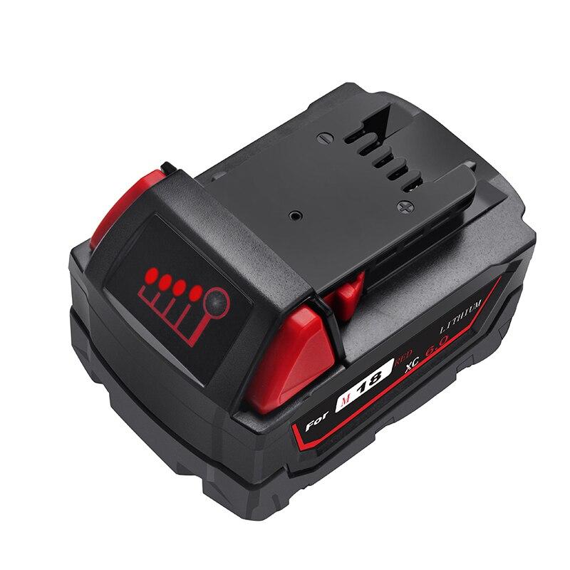 Bonacell 2x 6.0Ah 18V Power Tool Battery  For Milwaukee M18 48-11-1815 48-11-1850 2604-22 2604-20 2708-22 2607-22 48-11-1828
