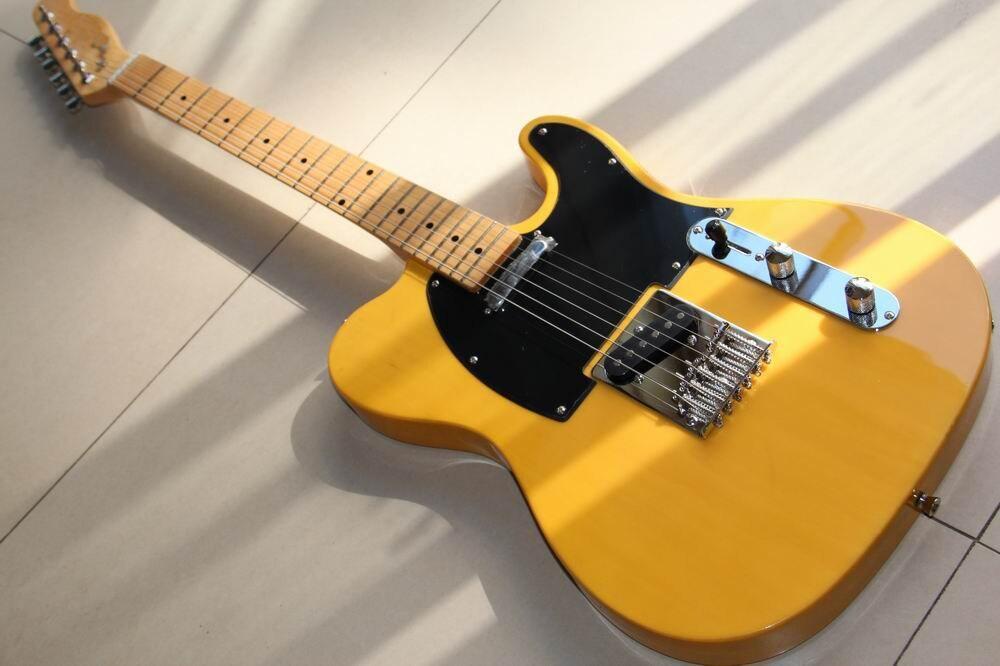 En gros Cnbald Tel guitare électrique érable cou en jaune naturel 121008 121008