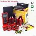 Top calidad nf-868w lan tester probador de cable lan utp cable tester tester para rj45/rj11/bnc/usb inglés versión