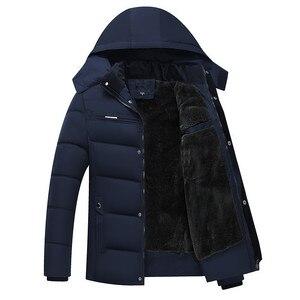 Image 1 - Erkek Kış Kalın Polar Aşağı Ceket Yeni 2018 Kapşonlu Palto Rahat Kalın Aşağı Parka Erkek Ince Rahat Pamuk yastıklı Mont XL 4XL