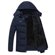 Men's Winter Thick Fleece Down Jacket New 2018 Hooded Coats