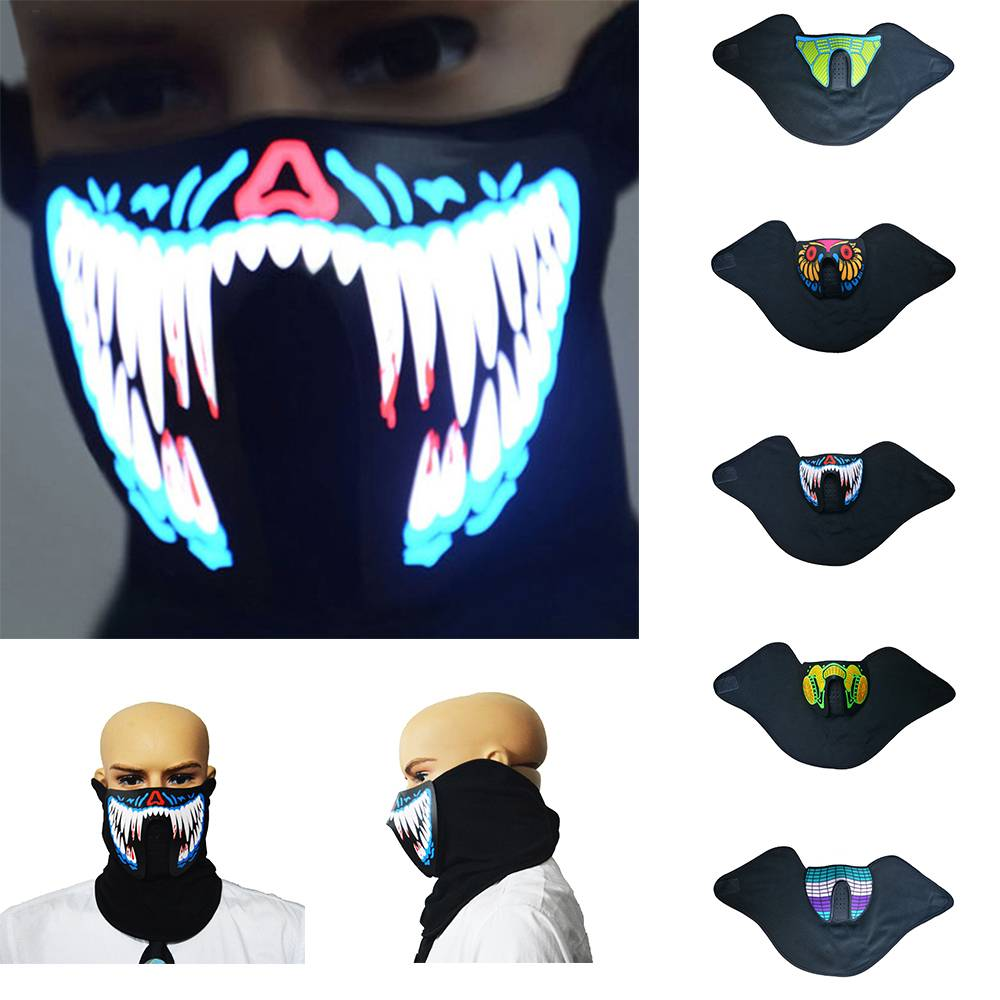 Men's Accessories Good 1pc Led Mask Atttractive Luminous 7 Colors Dust-proof Bright Light Up Mask Rave Mask For Party Women Men Halloween