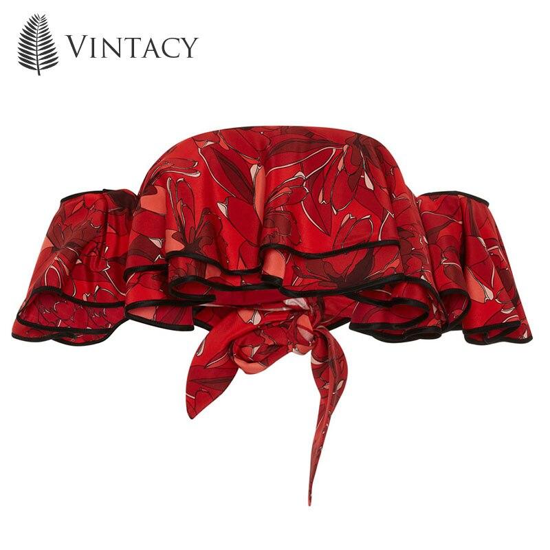 Vintacy Plus Size Polyester Summer Women Red Tank Top Crop Tops Slash Neck Sleeveless Tank Tops
