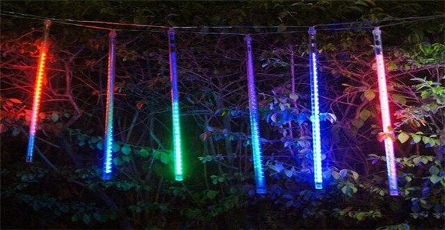8pcs/set 220v 110v Led Meteor Light Decorative Lights LED Light Bar  Landscape Lanterns Hollow