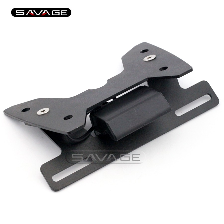 For SUZUKI GSXR <font><b>GSX</b></font>-R <font><b>600</b></font>/750 <font><b>2008</b></font> 2009 2010 K8 Motorcycle Fender Eliminator Registration License Plate Holder Bracket LED Light image