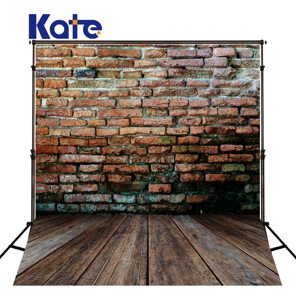 Kate 10X10FT  Red Brick Wall Backgrounds For Photo Studio Children Wood Floor Photography Background Microfiber Backdrop