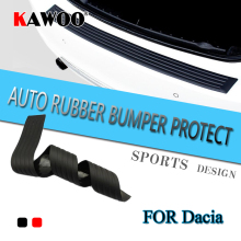 KAWOO For Dacia Duster Sandero Dokker Logan Lodgy Rubber Rear Guard Bumper Protect Trim Cover Sill
