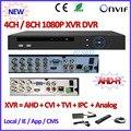 4/8CH 1080 P AHD DVR para H M 960 H D1 ONVIF de la cámara AHD NVR de 8 Canales para 2MP/1MP Red IPC H.264 DVR Mini cámara del ip del P2P grabadora
