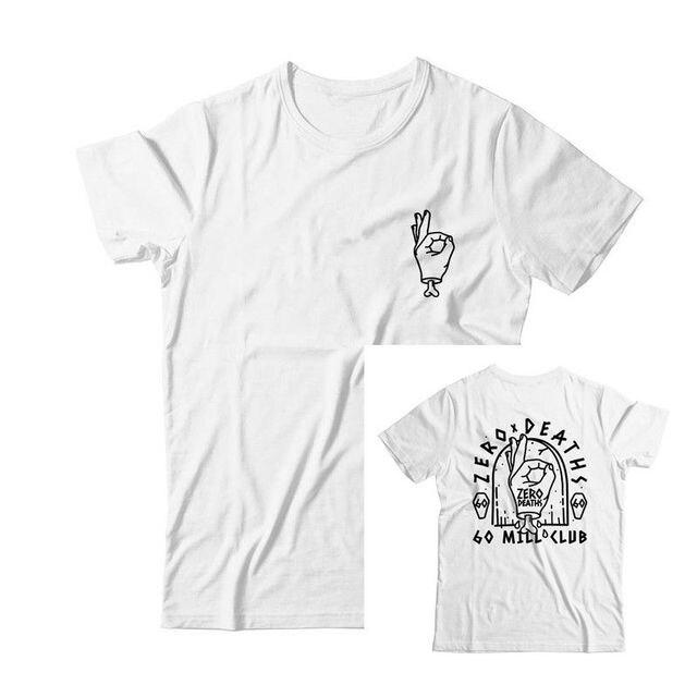 Pewdiepie Tops Shirt Cou Deaths Tee Hommes 2019 Marque Personnalisé Vêtements Mode Zero O T De 100Coton nP80kNwOX